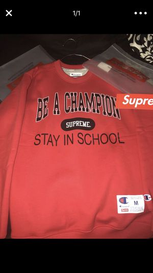 Supreme stay in school l/s shirt