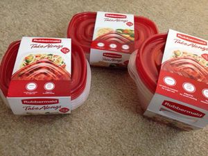 **** 3 Sets Rubbermaid Take Alongs Containers for food. Please See All The Pictures