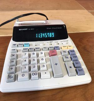 sharp el 1801v. sharp el-1801v 12 digit, 2 color printing calculator el 1801v 1