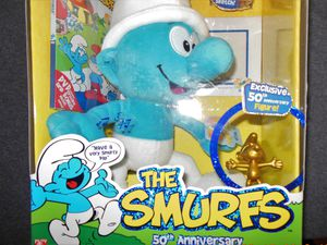 Smurfs collectors doll with dvd new never opened