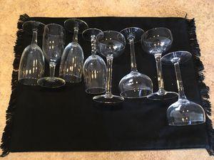 4 Port Glasses, 4 Champagne Glasses
