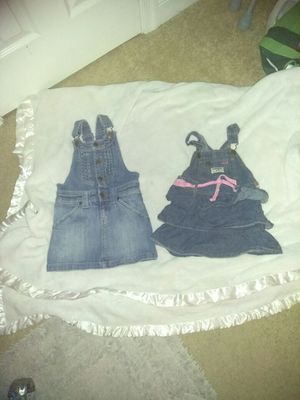 Summer overall Jean dresses 3t n 4t