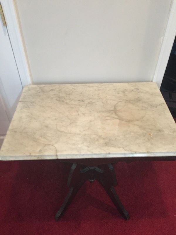 Solid Entry Table Marble Top Furniture In Hedgesville Wv