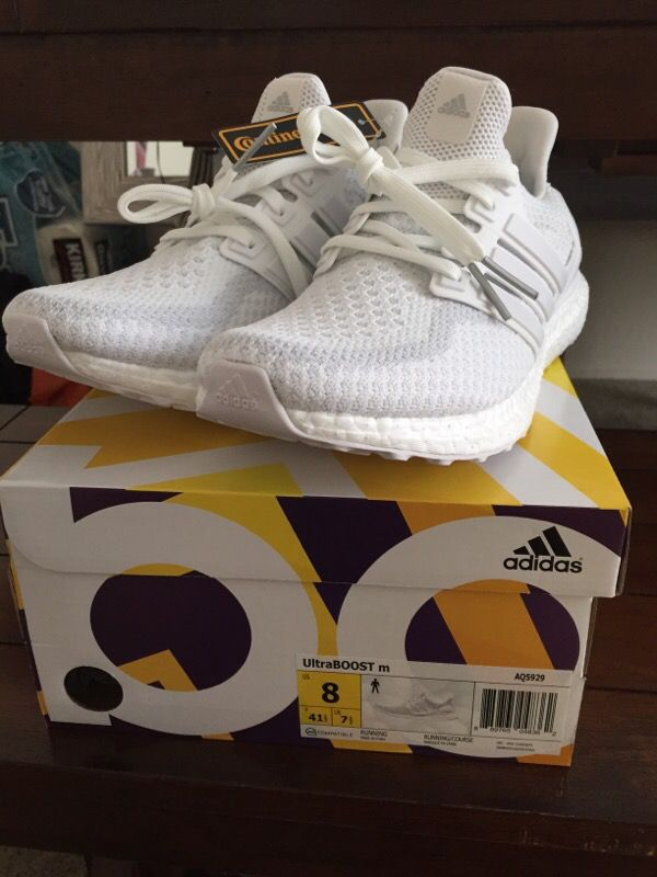 Adidas Ultra Boost 2.0 All Triple White Kanye Yeezy Aq5929 Men Size