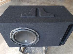 Jl audio W3V3 IN CUSTOM BOX