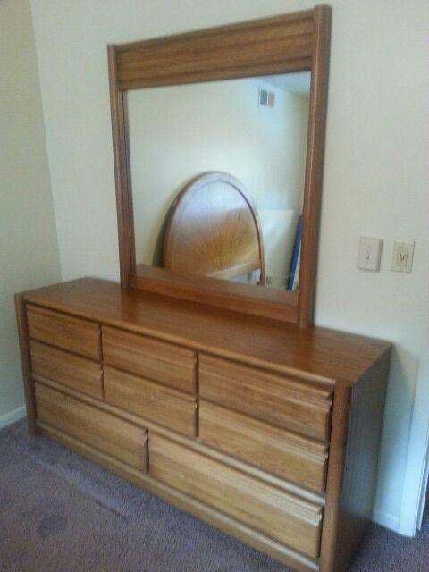 Oak Bedroom Set Full Queen Furniture In Westchester Il Offerup