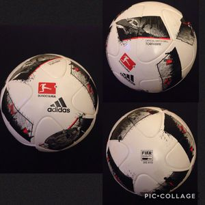 PRICE FOR 1 BALL !!!! FIRM / INNEGOCIABLE !!!! AUTHENTIC. NEW . BUNDESLIGA SOCCER BALL. FIFA ✅. SIZE 5.