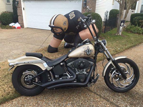 Harley Davidson Custom New Orleans Saints Motorcycle (Motorcycles ...