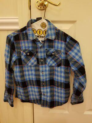 Blue striped button down shirt 6T