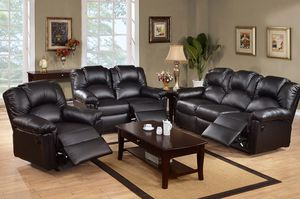 LIVING ROOM BLACK RECLINER