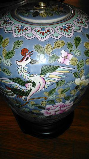 2 Perfect Vintage Oriental Porcelain Lamps
