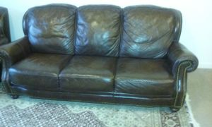 Leather Sofa with 2 Chairs