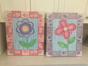 Kids / girls canvas painting