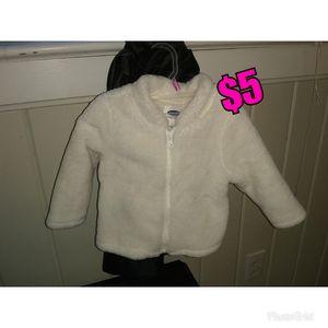 Girls 12-18months White Fur Jacket