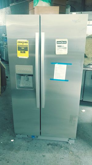 Brand new 36 inches wide side by side stainless steel.