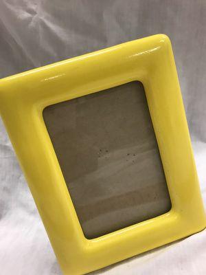 Yellow Metal Photo Frame 3x5.5