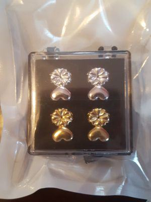 Earring backs - 1 pair gold plated 1 pair silver