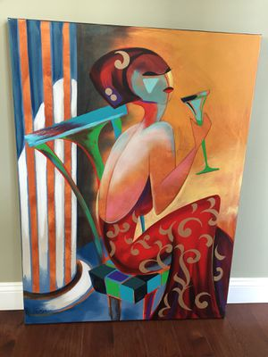 Contemporary painting on canvas 34x46 inch