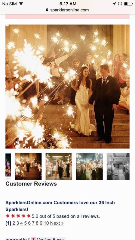 36 Inch Smokeless Wedding Sparklers