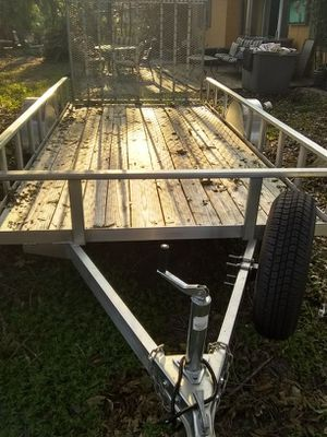 6x12 aluminum trailer like new