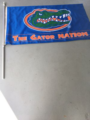 Florida gator nation flag with flagpole