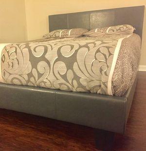 New Gray Queen Bed