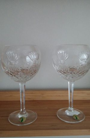 Waterford Crystal Millennium Collection/2 Prosperity Toasting Goblets