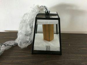 Black and Glass Pendant Ceiling Light (1011852)