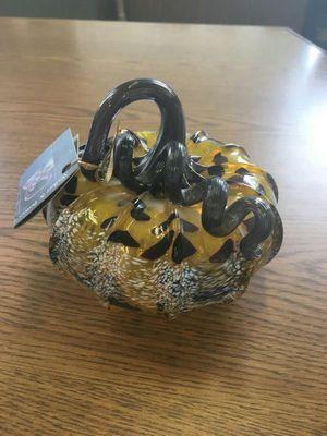 NWT Walker and Bowes Glass Pumpkin (1011056)