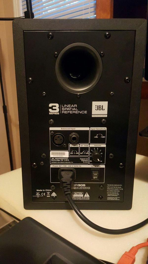 jbl 305 pair. jbl 305 5inch studio monitors pair n