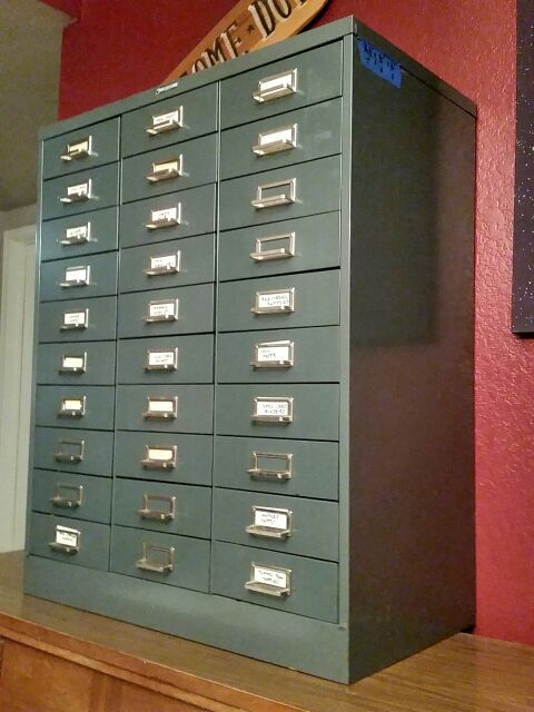 Steelmaster 30 Drawer File Cabinet. Apothecary, Vintage, Craft ...
