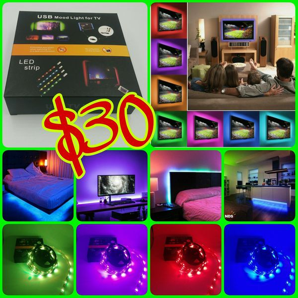 Led tv usb backlight kit computer rgb led light strip under bed led tv usb backlight kit computer rgb led light strip under bedcloset light 2m6ft computer equipment in ontario ca offerup mozeypictures Images