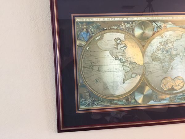 Bombay company double hemisphere foil old world map household in bombay company double hemisphere foil old world map household in north miami fl gumiabroncs Gallery