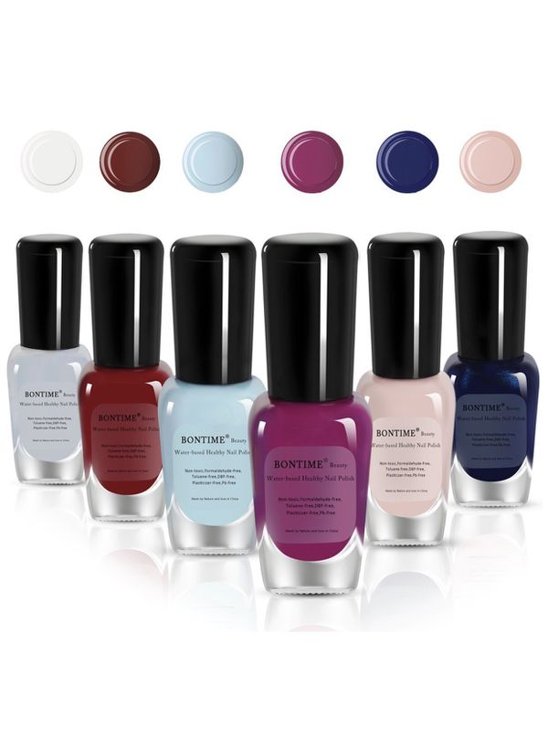 BONTIME Non-Toxic Nail Polish - Easy Peel off & Quick Dry Water ...