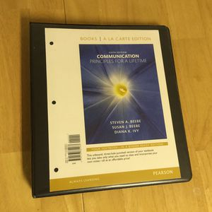 (6th Edition) Communications Principles for a Lifetime Textbook