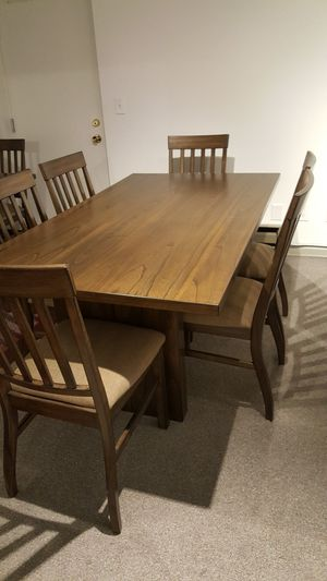 Brown Rectangular Dining Table Set