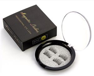 Magnetic eye lashes new false 6D double magnetic