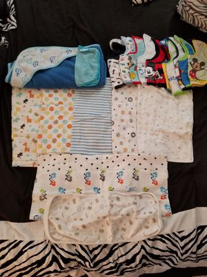 Baby blankets and bibs