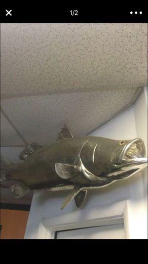 Wall mount Silver tarpon fish