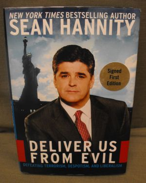 Signed by Sean Hannity - Deliver us from evil - HC, DJ 1st edition 2004