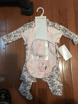 Six Piece Baby Outfit Size 3 Months