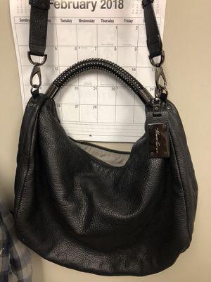 Kenneth Cole 100% black leather hobo purse