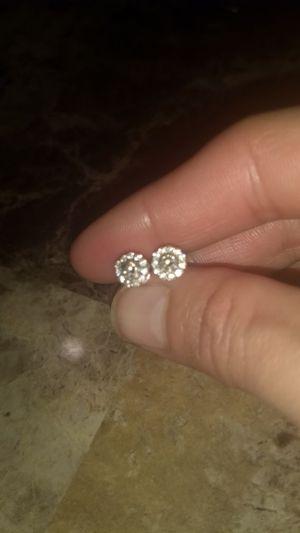 Levian 1/2 carat chocolate and vanilla diamond 14k white gold $1700 stud earrings!