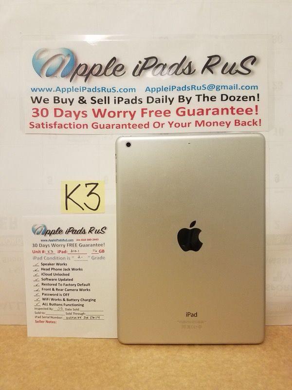 K3 - iPad Air 1 16GB