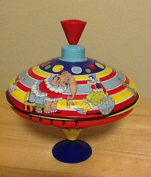 Schilling Collectable Childs Metal Toy Top-Circus