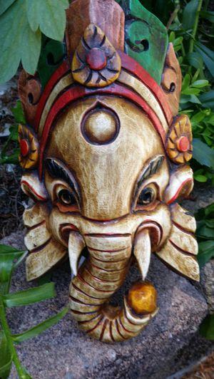 Old wooden handmade Ganesh mask