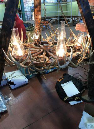 Handmade deer antler chandelier real antlers