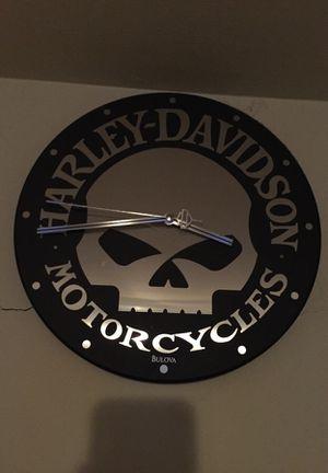 Bulova Harley Davidson Clock Nice