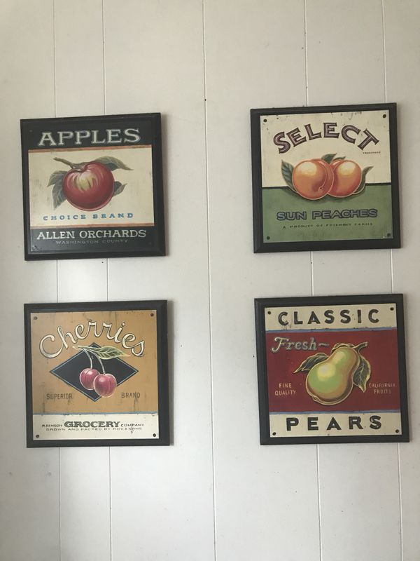 Produce prints on wood kitchen art (Home & Garden) in Seattle, WA ...