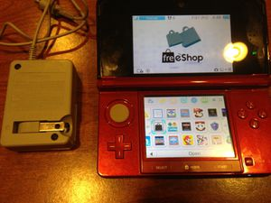 3DS system with FreeShop and many games